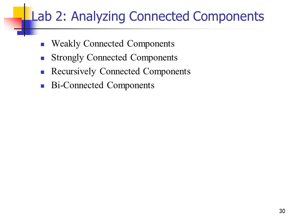 Lab 2: Analyzing Connected Components
