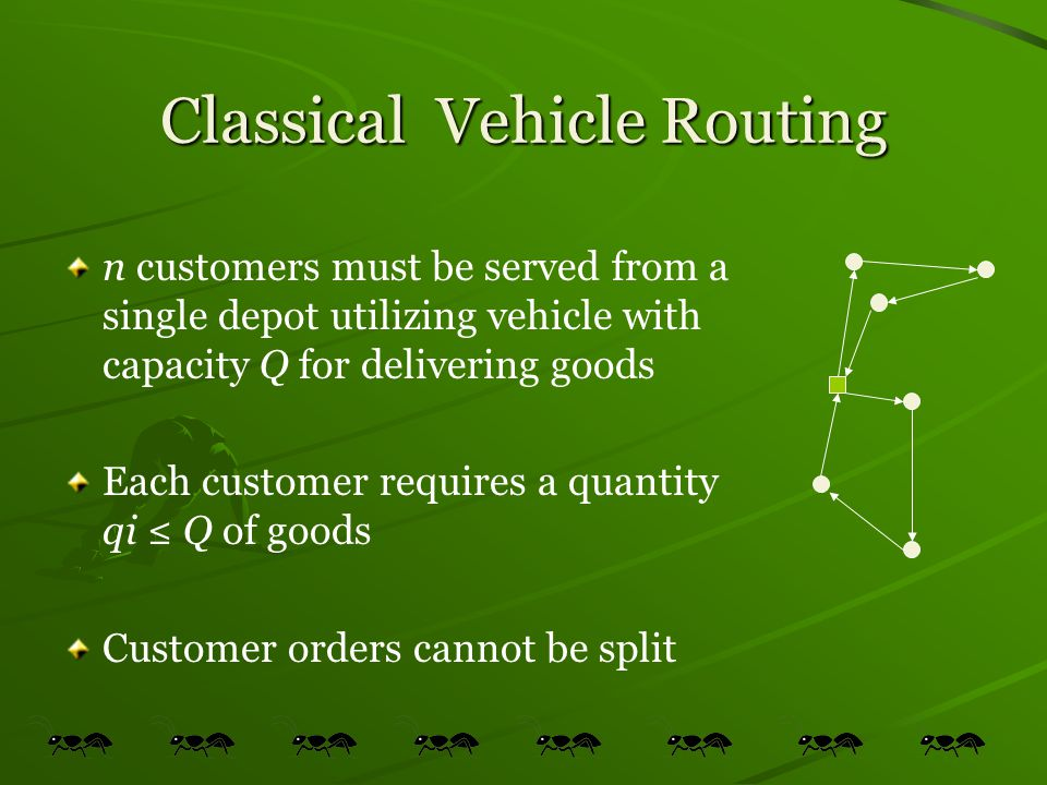 Classical Vehicle Routing