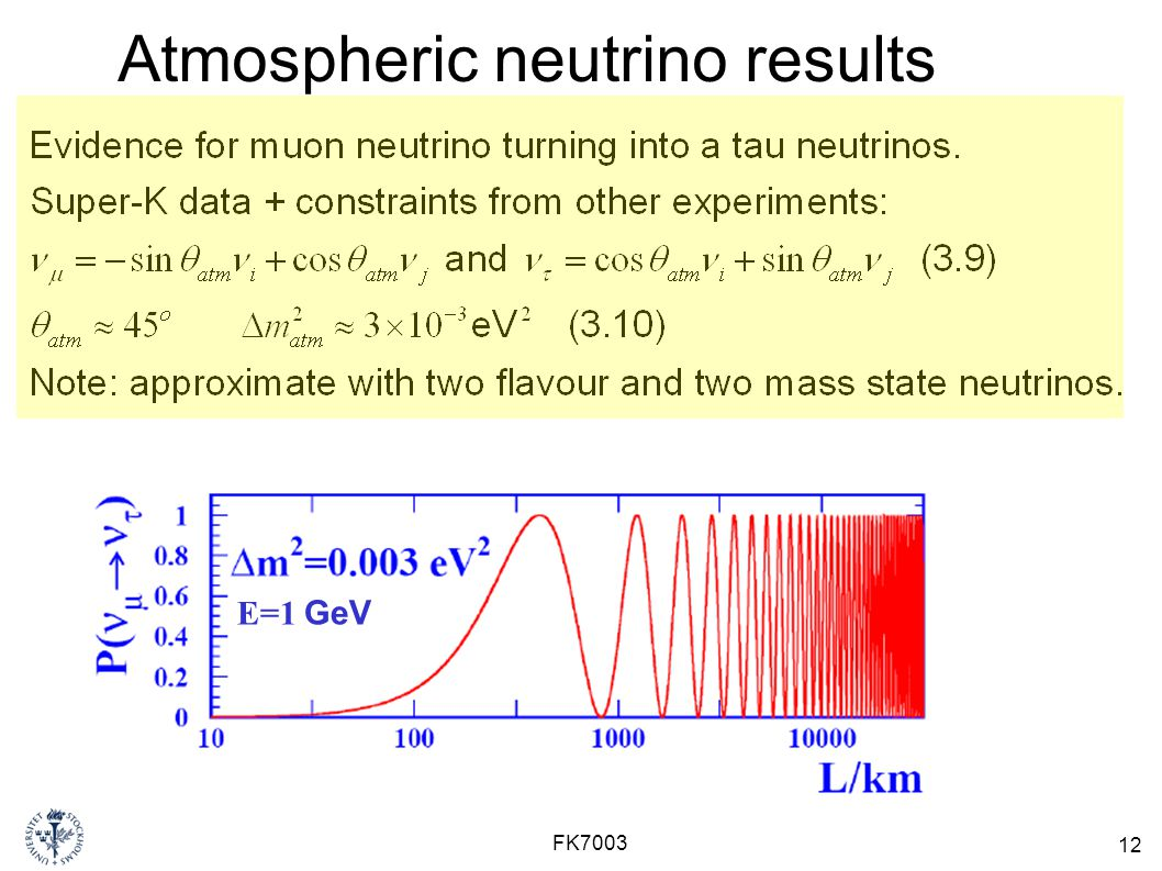 Atmospheric neutrino results