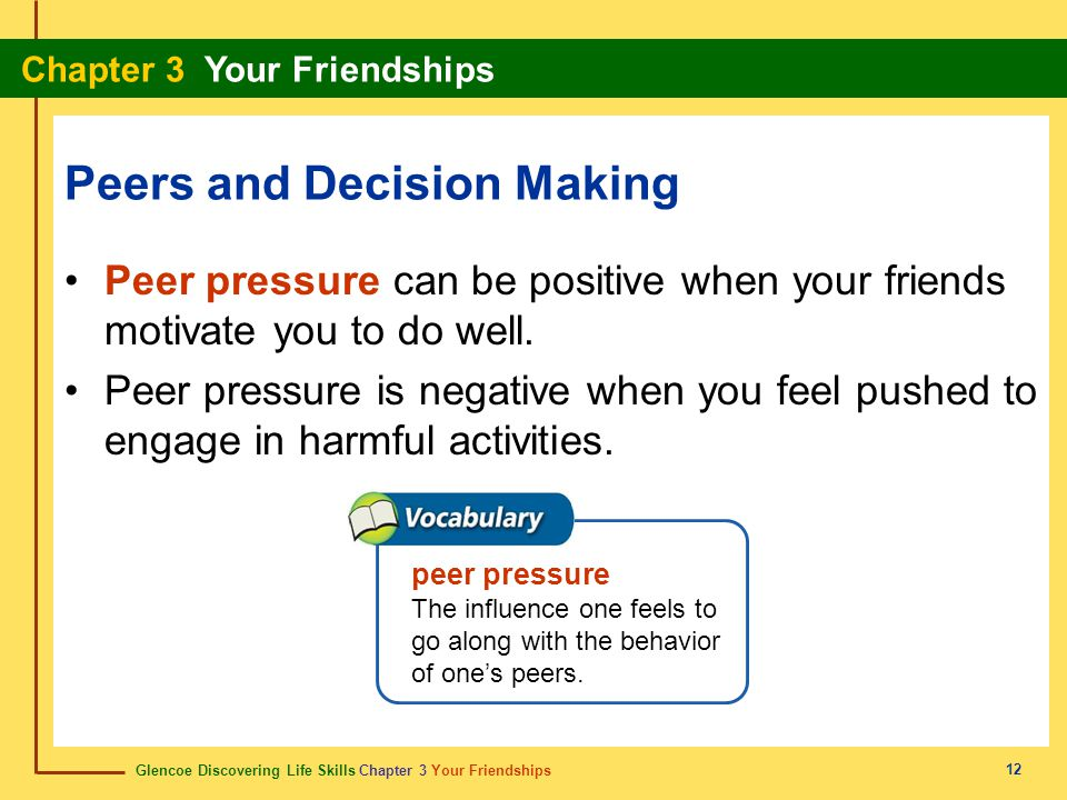 Peers and Decision Making