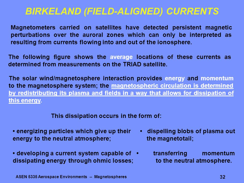 BIRKELAND (FIELD-ALIGNED) CURRENTS