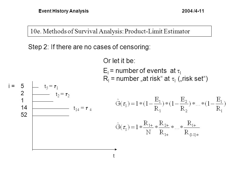 Event History Analysis 2004 /4-11