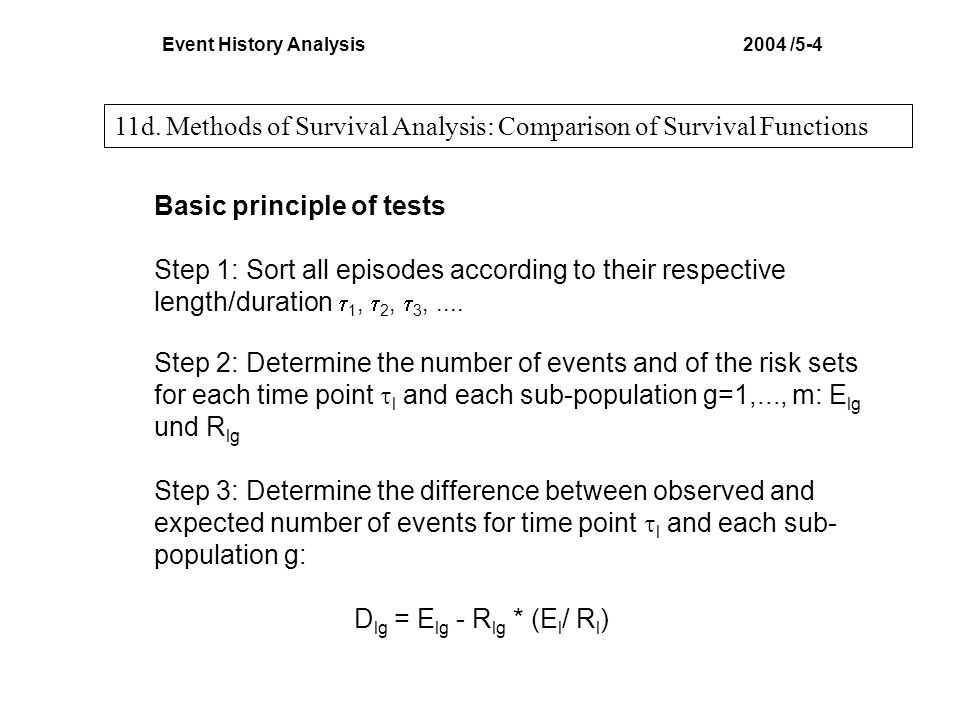 Event History Analysis 2004 /5-4