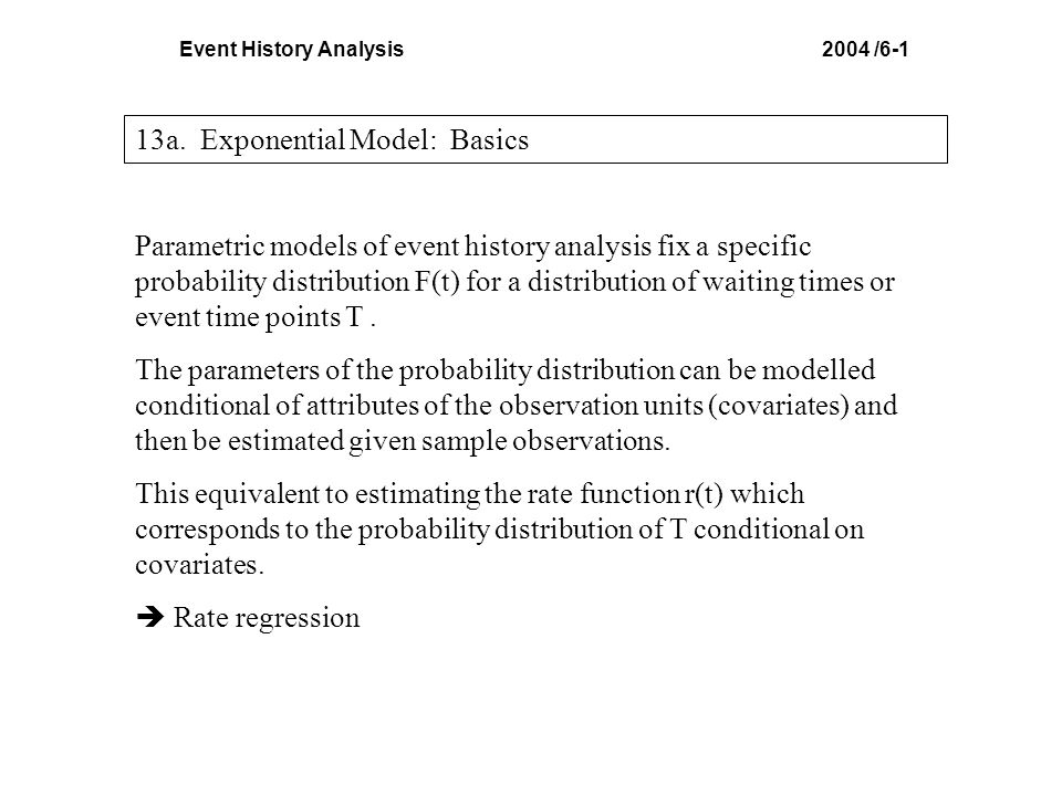 Event History Analysis 2004 /6-1