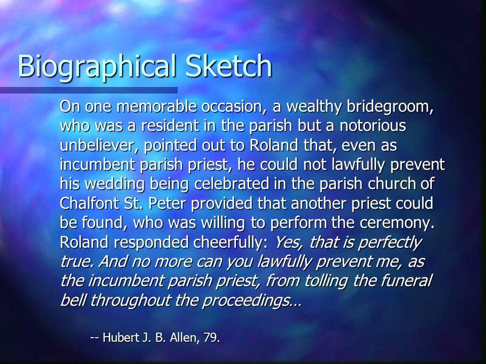 Biographical Sketch