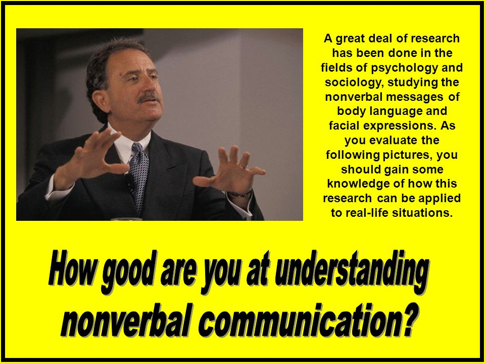 How good are you at understanding