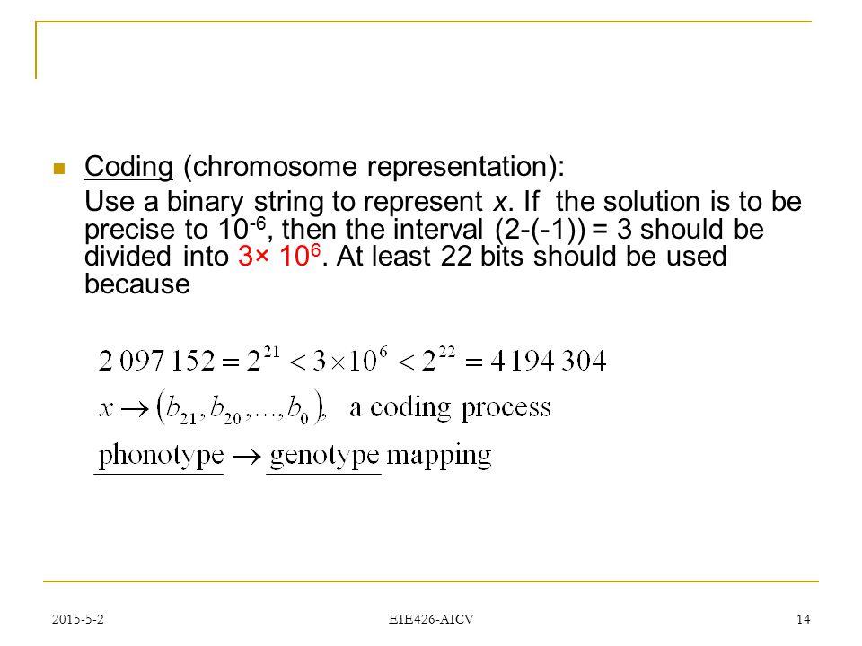 Coding (chromosome representation):