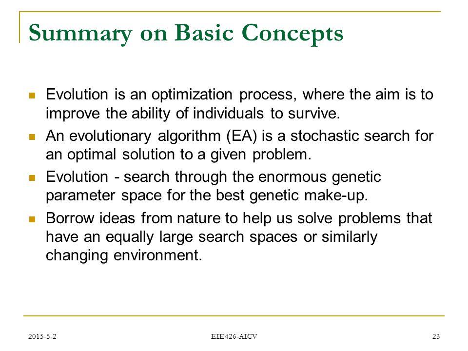 Summary on Basic Concepts