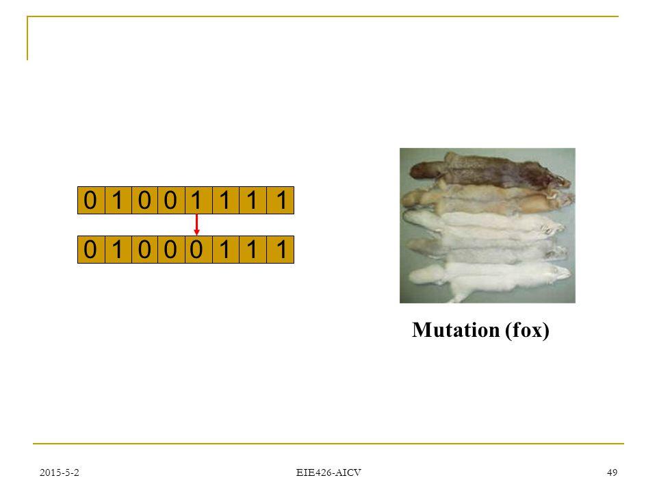1 1 Mutation (fox) 2017/4/14 EIE426-AICV