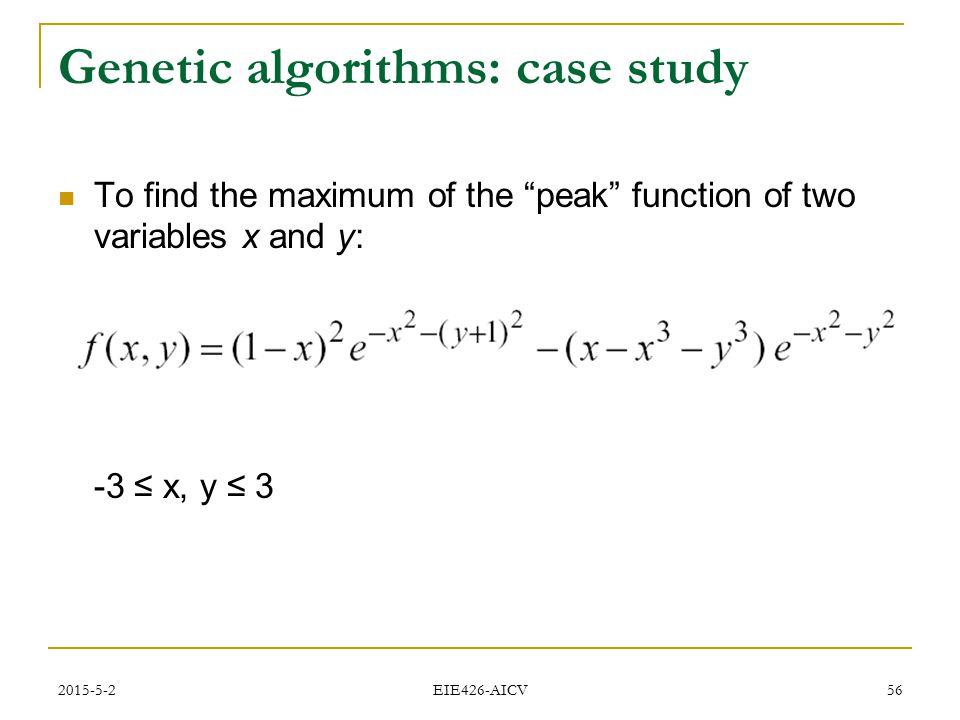 Genetic algorithms: case study