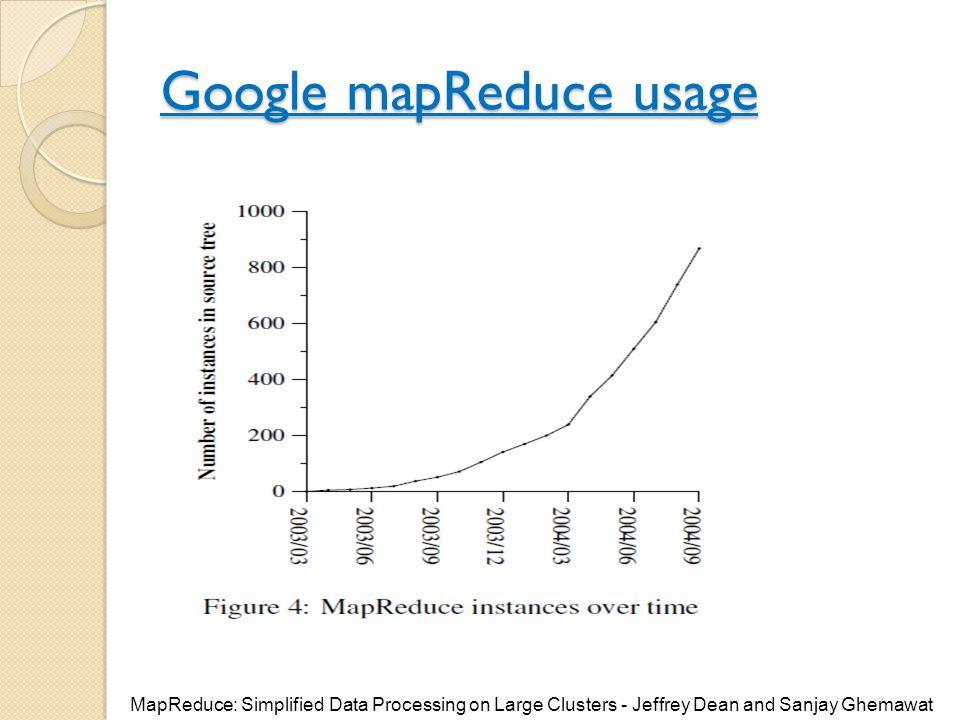 Google mapReduce usage