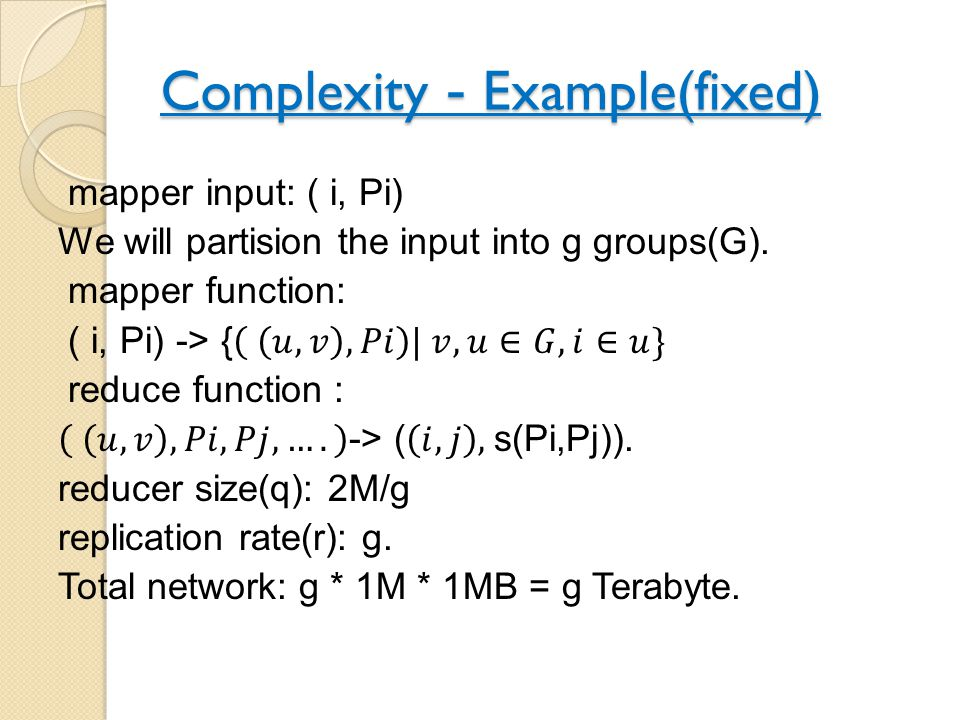 Complexity- Example(fixed)