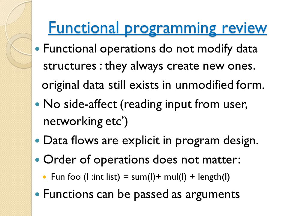 Functional programming review