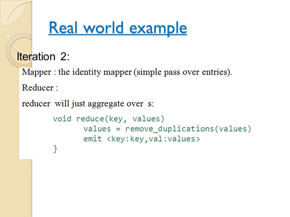 Real world example Iteration 2: