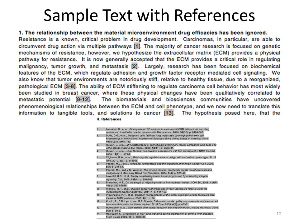 Sample Text with References