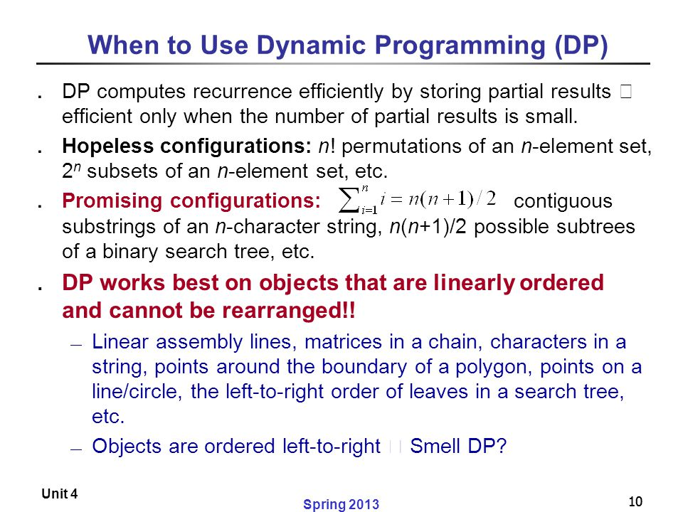 When to Use Dynamic Programming (DP)