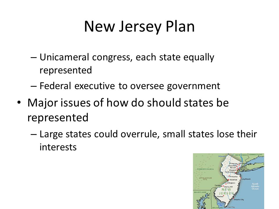 New Jersey Plan Major issues of how do should states be represented