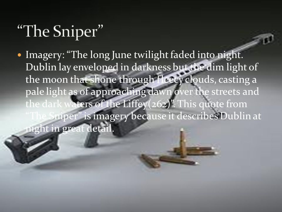 the sniper a short story analysis The sniper short story film owen mcmillan loading unsubscribe from owen mcmillan  the sniper - a short film by gabriel fowler (2015) - duration: 8:16 film wire 437,226 views.