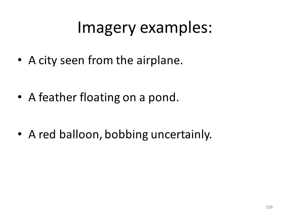 Imagery examples: A city seen from the airplane.
