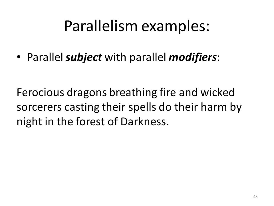 parallelism examples - photo #42
