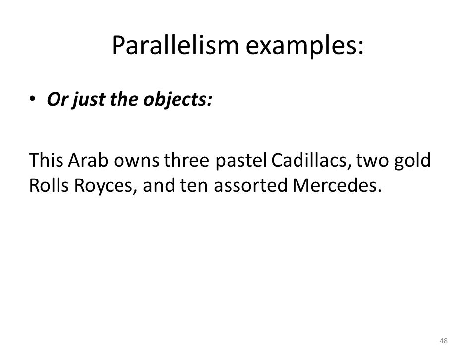 parallelism examples - photo #37
