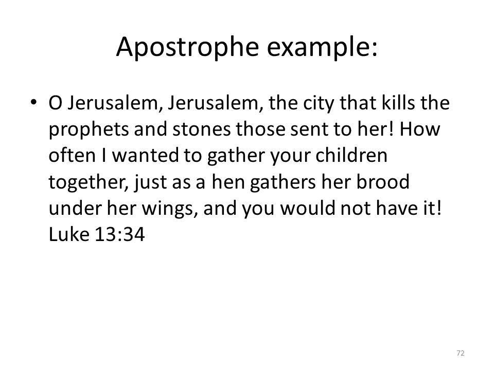 Apostrophe example: