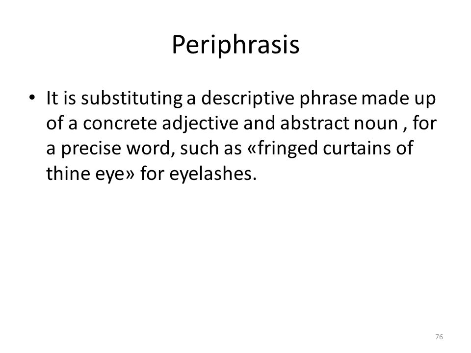 Periphrasis