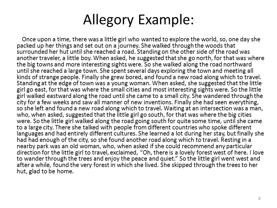Allegory Example: