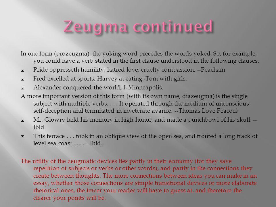 Zeugma continued