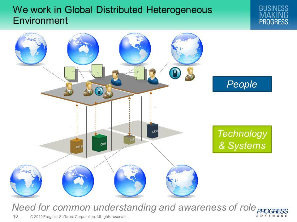 We work in Global Distributed Heterogeneous Environment
