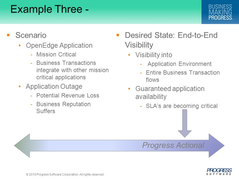 Example Three - Scenario Desired State: End-to-End Visibility