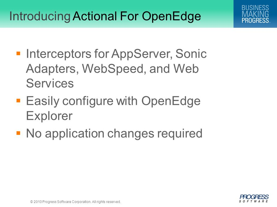 Introducing Actional For OpenEdge