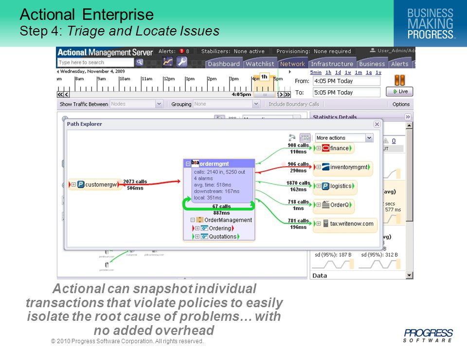 Actional Enterprise Step 4: Triage and Locate Issues