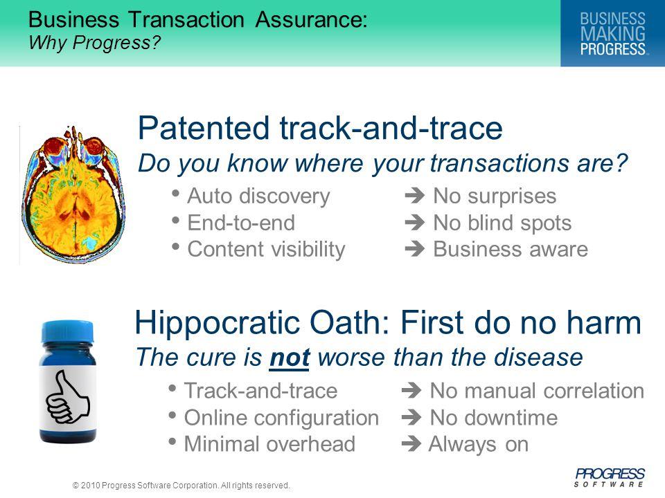 Business Transaction Assurance: Why Progress