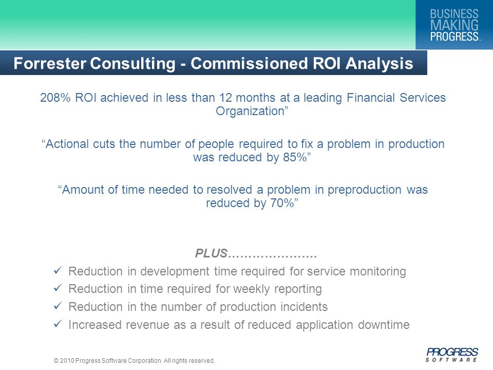 Forrester Consulting - Commissioned ROI Analysis