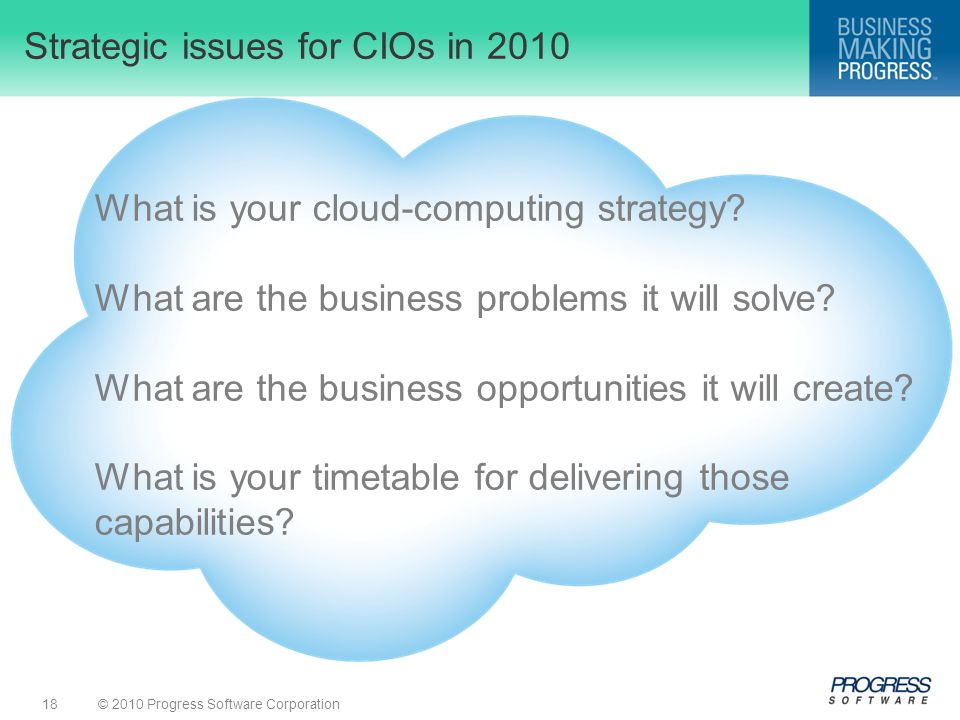 Strategic issues for CIOs in 2010