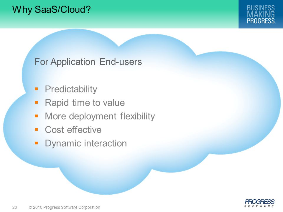 Why SaaS/Cloud For Application End-users Predictability