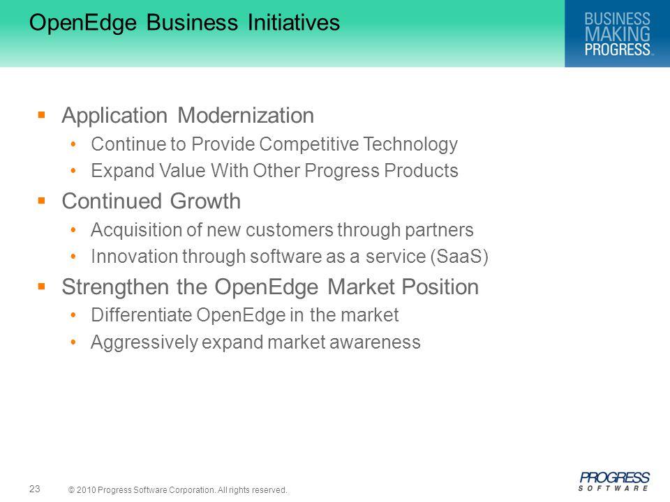 OpenEdge Business Initiatives