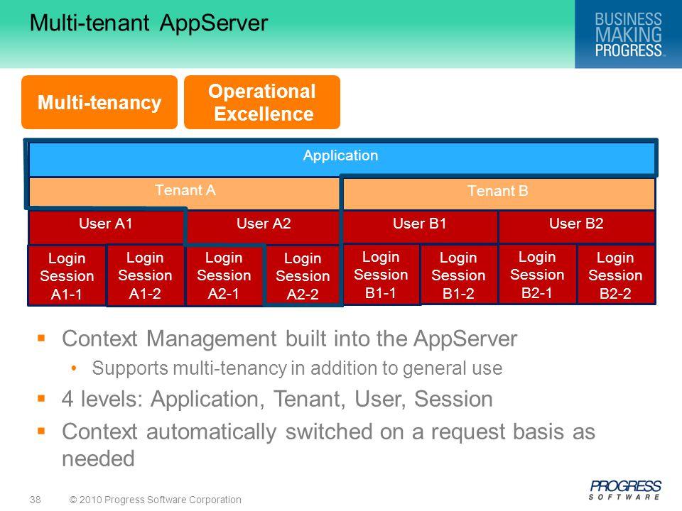 Multi-tenant AppServer