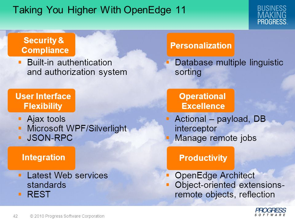 Taking You Higher With OpenEdge 11