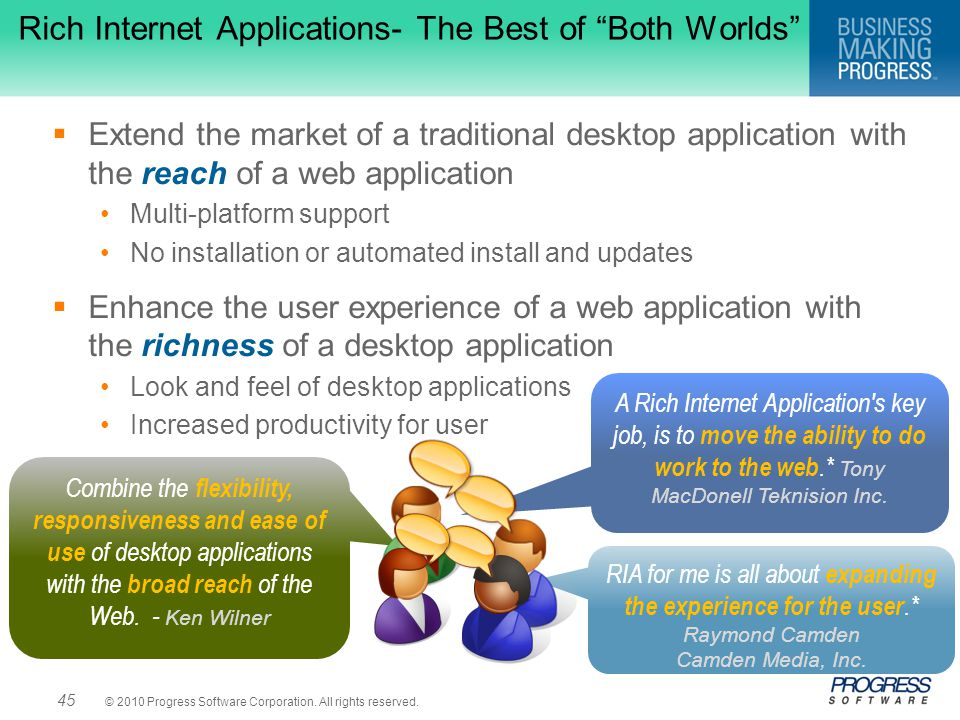 Rich Internet Applications- The Best of Both Worlds