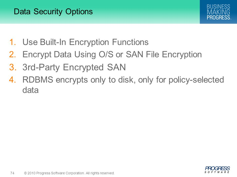 3rd-Party Encrypted SAN