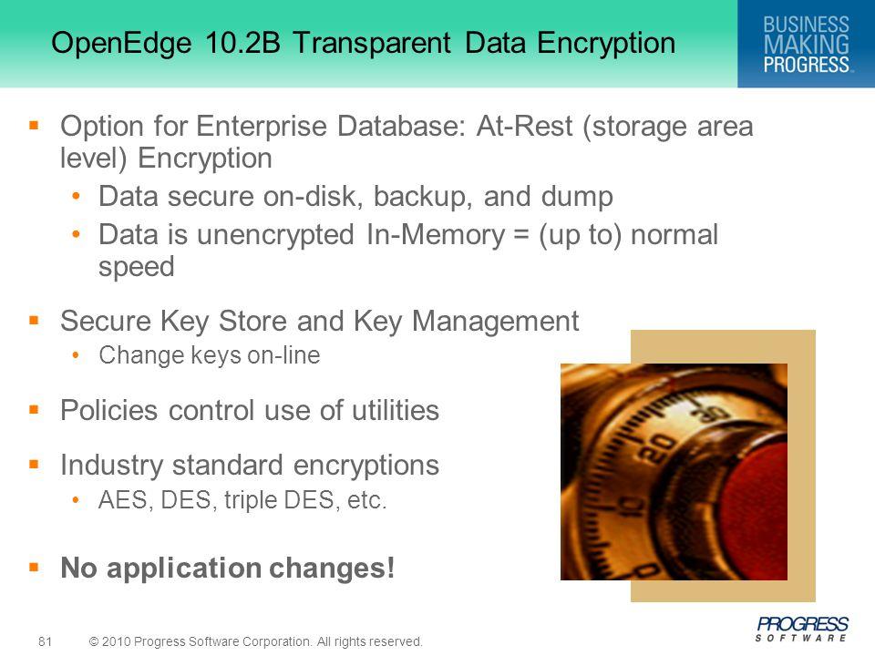 OpenEdge 10.2B Transparent Data Encryption