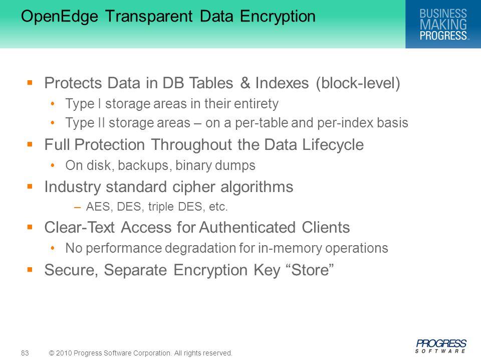 OpenEdge Transparent Data Encryption