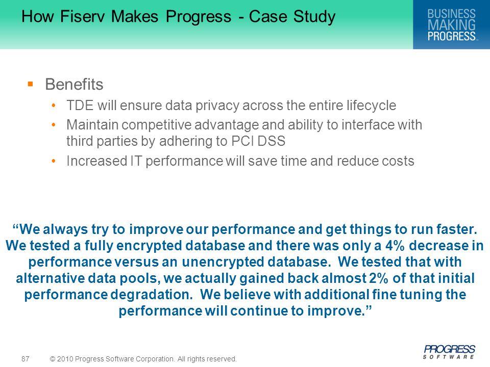 How Fiserv Makes Progress - Case Study
