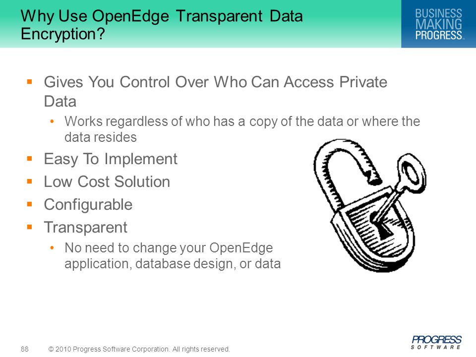 Why Use OpenEdge Transparent Data Encryption