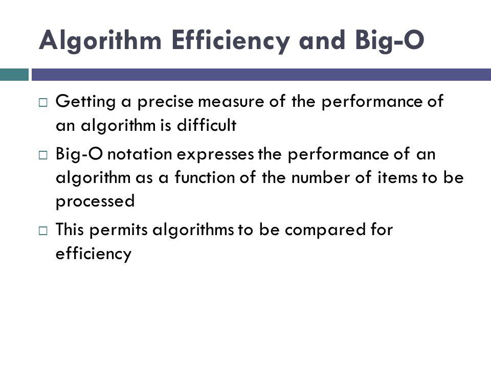 Algorithm Efficiency and Big-O