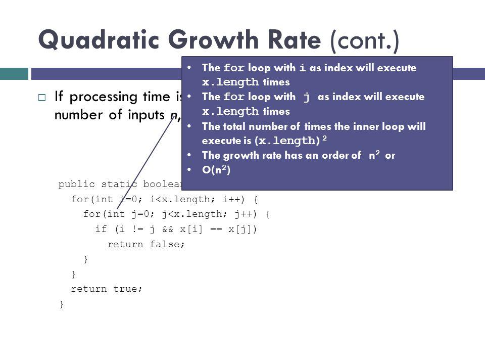 Quadratic Growth Rate (cont.)