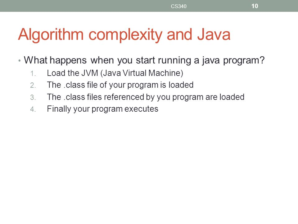 Algorithm complexity and Java