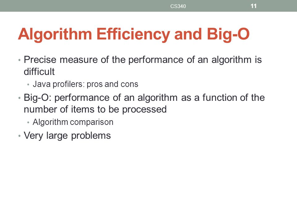 Algorithm Efficiency and Big-O